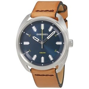 Diesel Fastbak Blue Dial Light Brown Leather MensW